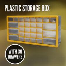 Storage Drawer w/ 30 Compartments, Plastic Tool Box Organiser Bin Screw Case