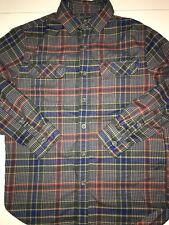 WOOLRICH Hiker's Trail Flannel Shirt II - Mens Medium Classic Fit New Royal Blue