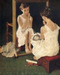 Print - Girl at Mirror by Norman Rockwell