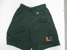 VINTAGE CHAMPION UM MIAMI HURRICANES SMALL GREEN PRACTICE SHORTS PREOWNED