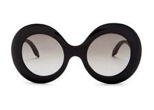 VICTORIA BECKHAM Large Oversized Round Women Sunglasses VBS127 Black Grey 145mm