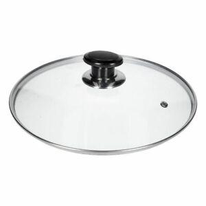 Coolinato coperchio universale per pentole padelle Coperchio in vetro con manico 20 cm coperchio di ricambio in vetro rotondo coperchio resistente al calore