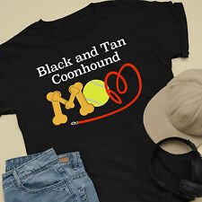 Black and Tan Coonhound Dog Mom and Dad Comfy Cute Dog Lover T-Shirt