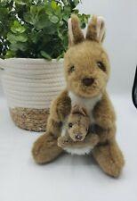 Aussie Bush Toys Kangaroo & Baby Joey Plush Stuffed Animal 9� Sydney Australia