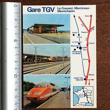 CARTE POSTALE VINTAGE COLLECTION SNCF TGV GARE Le Creusot Montceau Montchanin