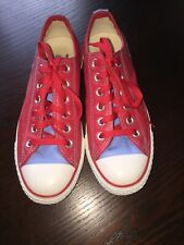 Women's Converse All Star Red & Baby Blue Sneaker Trainer Apaches Size US 6.5