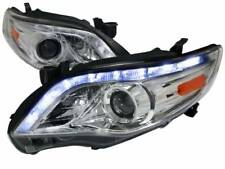Spec-D 2011-13 Toyota Corolla Clear LED DRL Projector Headlights Pair R8 Style