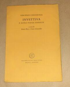Invettiva e altre poesie.... - V. Cardarelli - All'insegna del pesce d'oro, 1964