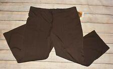 Nwt Nrg Barco Plus 3X Dark Brown Arcflex Drawstring Uniform Scrub Pocket Pants