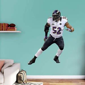 "RAY LEWIS 5'4"" X 5'10"" Lifesize Only Ravens Legend Super Bowl XLVII BIG FATHEAD"