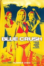 BLUE CRUSH -2002 orig 27x40 surf movie poster- KATE BOSWORTH - Yellow Advance