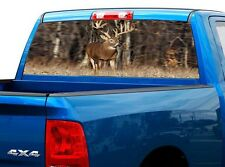 P447 Deer Buck Rear Window Tint Graphic Decal Wrap Back Truck Tailgate