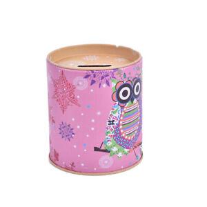 Owl Piggy Bank Tinplate Piggy Bank Children's Gifts Kid Gift MoneyY*jg