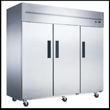 New! Dukers D83R 3-Door Bottom Mount Commercial Refrigerator in Stainless Steel