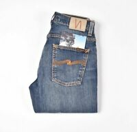 26887 Nudie Jeans Grim Tim Shaded Blue Bleu Hommes Jean Taille 30/32