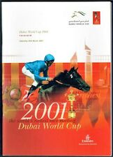 CAPTAIN STEVE & BOB BAFFERT IN RARE 2001 DUBAI WORLD CUP HORSE RACING PROGRAM!
