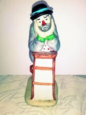 Flambro Emmett Kelly Jr Miniature Collection Why Me Clown Figurine