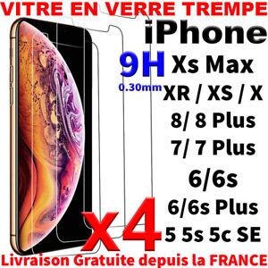 VITRE PROTECTION VERRE TREMPÉ FILM ÉCRAN POUR IPHONE 8 7 6S 6 PLUS 5 X XR XS MAX