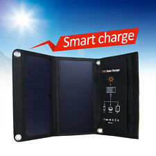 15W Folding Dual USB Camping Solar Panel Charger fr Mobile Phone Tablet Computer
