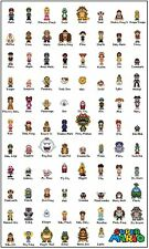 A4 Poster – Super Mario Bros Complete Character Picture (Nintendo Gaming Art)