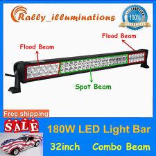 32INCH 180W LED WORK LIGHT BAR EPISTAR DRIVING TRUCK LAMP BOAT OFFROAD SUV 6000K
