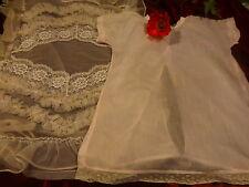 lot vintage pour poupées poupons  c elluloid ans 50 fond de robe et housse nylon