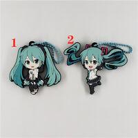 Anime Hatsune Miku Rubber Keychain Key Ring straps cosplay