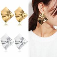 1 Pair Elegant Geometric Spider Mesh Shaped Dangle Ear Hoop Earrings Jewelry