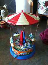 Colorful  tin swing carousel  Made in West Germany.