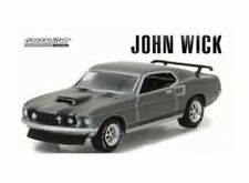 GREENLIGHT 51228 1/64 MUSTANG JOHN WICK CHROME / GREY (D)