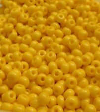 10 g Pony Beads 4 mm Gelb 6/0 goldgelb opak Indianerperlen Glas