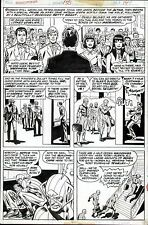 1976 AMAZING SPIDER-MAN #156 ORIGINAL ART PAGE ROSS ANDRU WEDDING OF NED & BETTY Comic Art