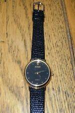 New Old Stock LeJour Elegant Swiss Quartz Black Dial Watch Dot Numbers Sleek