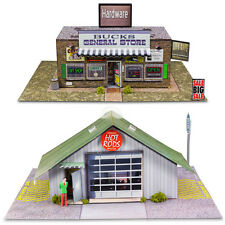 1:87 Scale General Store & Commercial Steel Building Photo Real Model Train Kits