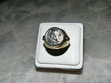 RARE!!! MENS ALEXANDER THE GREAT  COIN 18K GOLD RING