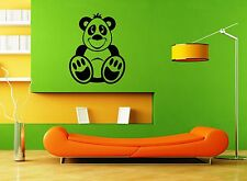 Wall Stickers Vinyl Decal Funny Bear Cartoon For Children Nursery ig1533