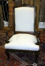 Best Carved Walnut Georgian Chippendale Arm Chair Grand Scale Large Size C1890