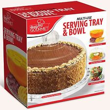 Serving Tray Multi Use 4 In 1 Dinner Party Punch Bowl 5 Section Food Platter