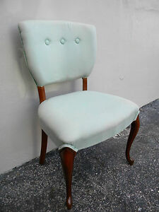 French Mahogany Living Room Office Vanity Side Chair 1995