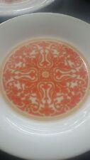 "Set 8 ROYAL DOULTON SEVILLE 7-7/8"" Salad Lunch Plate MID CENTURY MODERN Orange"