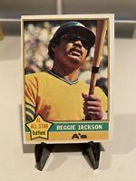 1976 Topps Baseball #500 Reggie Jackson, Oakland Athletics, HOF