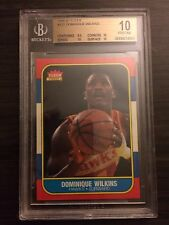 1986 Fleer Basketball Card Dominique Wilkins #121 BGS 10 PRISTINE