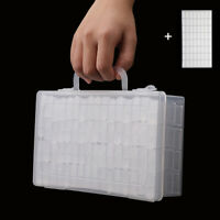 64Pcs Plastic  Diamond Painting Storage Box Jewelry Drill Holder with Labels DIY