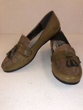PILAR ABRIL Women's Loafers Brown EUR 40 US 9.5M Tassels Calf Hair Leather