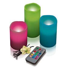Lot De 3 Bougies LED + Télécommande Emoti Candle Cire Réaliste Bords Fondu Neuf