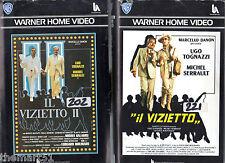 Il vizietto + Il Vizietto 2  (1979-1980) - 2 VHS 1a Ed. Warner  - Ugo Tognazzi