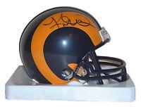 Kurt Warner St Louis LA Rams Signed Autographed Football Mini Helmet HOF Proof