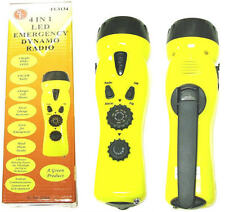 NEW 4-in-1 Hand Crank Dynamo EMERGENCY Flashlight, Radio & Cell Phone Charger