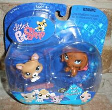Littlest Pet Shop BALLERINA DACHSHUND & CORGI Dogs #639 #640 VHTF 2007