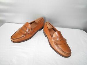 Men's Allen Edmonds British Tan Leather Dress Loafers Size 10.5 C